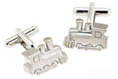 Chrome Train cufflinks
