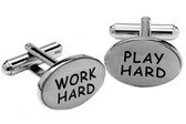 """Work Hard"" Cufflinks"