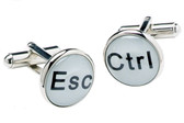 Computer keys [Esc and Ctrl]  cufflinks