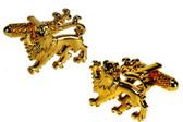 Gold Lion cufflinks