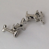 Dog and Bone Chainlink Cufflinks