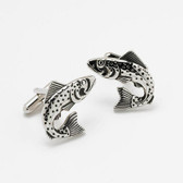 Large Fish / Leaping Trout Cufflinks