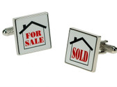 """For Sale/Sold"" Cufflinks"