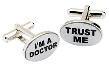"""Trust Me.... I'm a Doctor"" slogan Cufflinks"