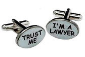 """Trust Me, I'm a Lawyer"" Cufflinks"