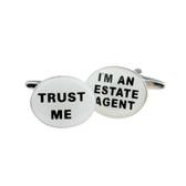 """Trust Me -  I'm An Estate Agent"" Cufflinks"