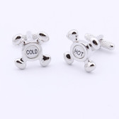 Hot and Cold Taps Novelty Cufflinks
