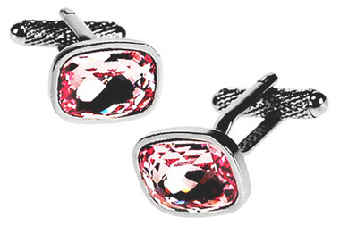 Rose Swarovski element Cufflinks