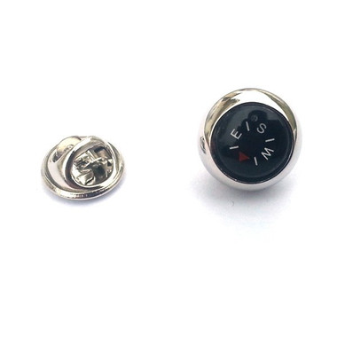 Compass Lapel Pin Badge