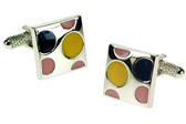 Square Spotty cufflinks