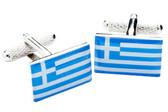 Greek Flag Cufflinks