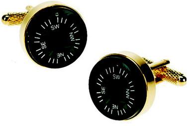 Gold Compass Cufflinks