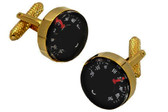 Gold Thermometer Cufflinks