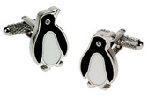 Penquin with crystal eyes Cufflinks