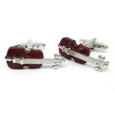 Wood effect Violin Music cufflinks