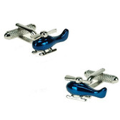 Blue Helicopter Cufflinks