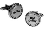 Guilty/Not Guilty Cufflinks