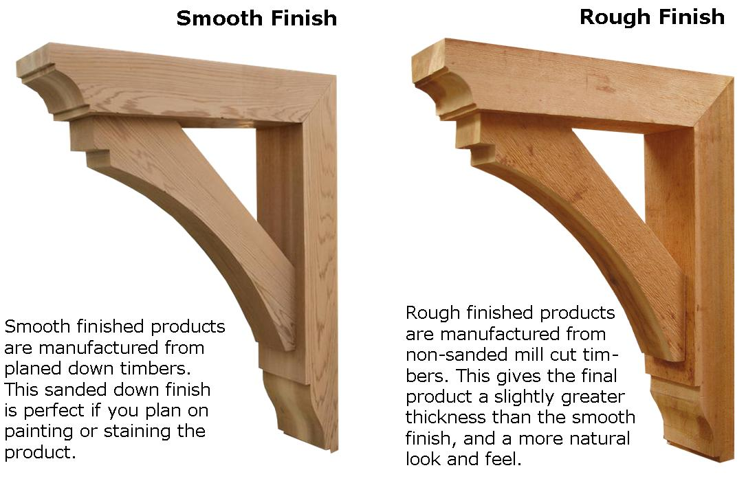 Beautiful Cedar Corbel #7: Open Sizing Diagram, Smooth, Rough