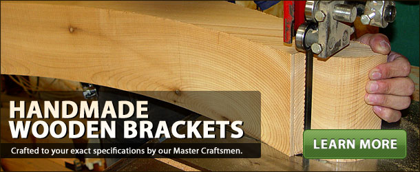 Handmade Cedar Brackets and Cedar Corbels