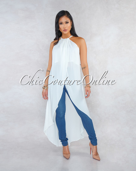 Kane Ivory Overlay High-Low Top