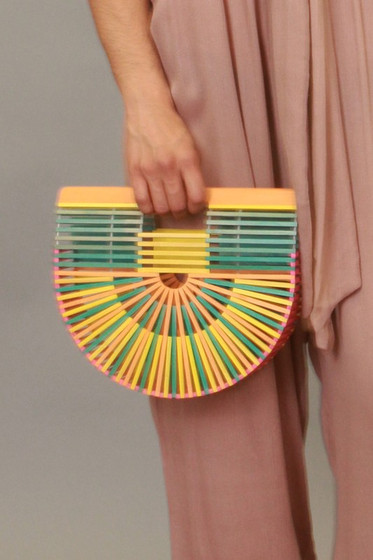Shanny Multicolor Bamboo Bag