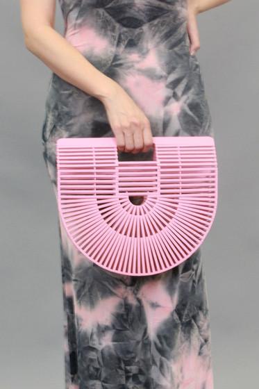 Shanny Pink Bamboo Bag