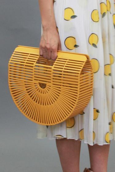 Shanny Yellow Bamboo Bag