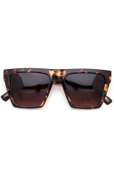 Sellie Brown Tortoise Square Iconic Sunglasses