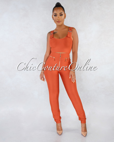 Rafer Rust Bandage Two Piece Set