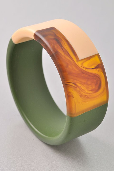 Maxine Olive Cuff Bracelet