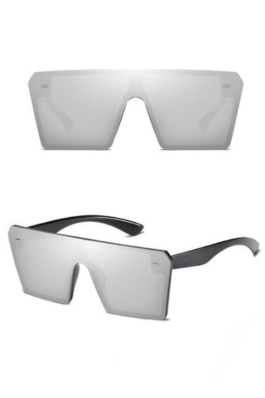 Stunna Silver Square Large Sunglasses