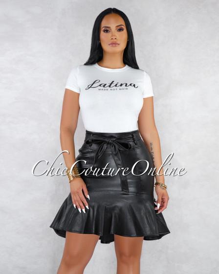 Latina Off-White Rhinestones Graphic T-Shirt