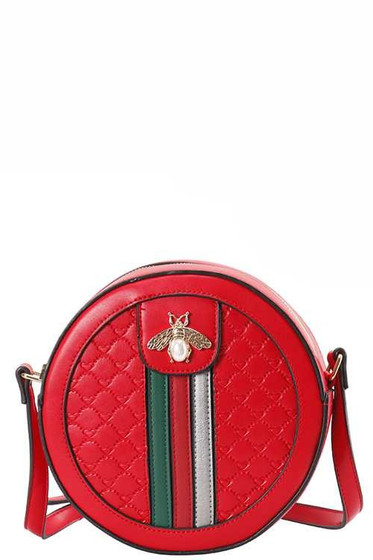 Channa Red Mini Round Bag