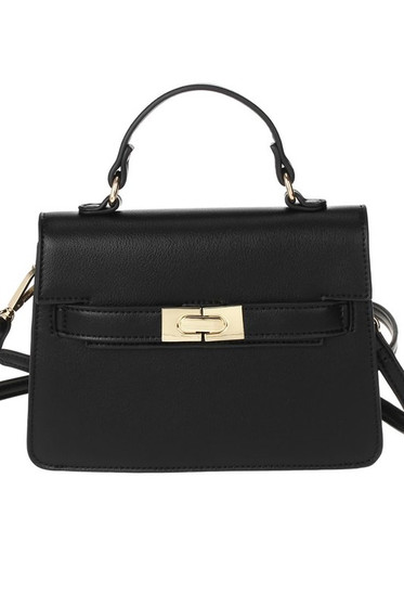 Carolyn Black Mini Satchel Bag