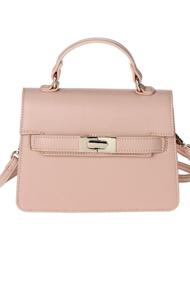 Carolyn Nude Mini Satchel Bag