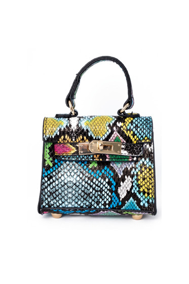 Carro Multicolor Snake Print Mini Satchel Bag