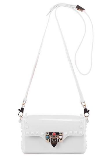 Tarra White Studded Crossbody Bag