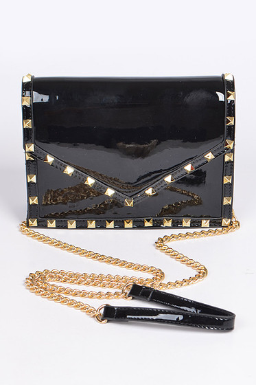 Stella Black Studded Crossbody Bag