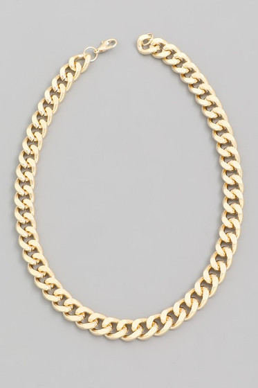 Patty Gold Thick Chain Link Choker Necklace