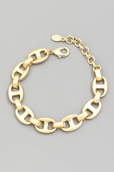Dinna Gold Anchor Chain Bracelet