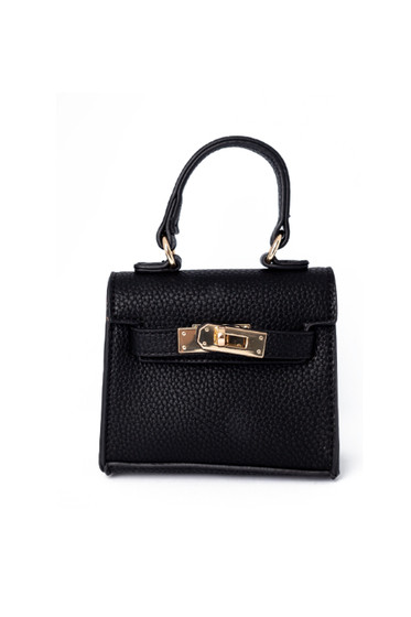 Carro Black Mini Satchel Bag