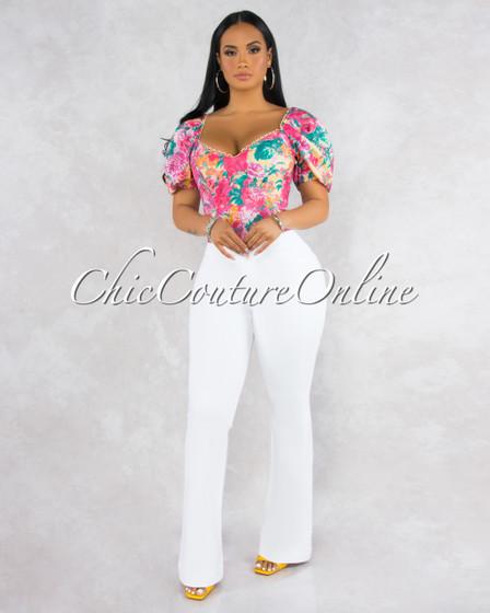 Payton White Denim High Waistband CURVACEOUS Jeans