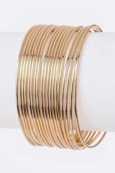 Buffy Gold Multi Strand Bangle Bracelet