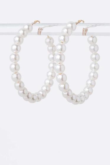 Stilla Pearl Hoop Earrings