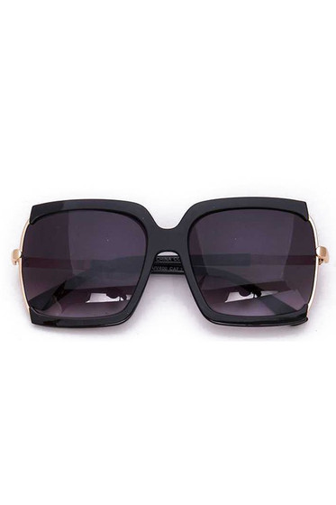 BB Oversized Black Square Sunglasses