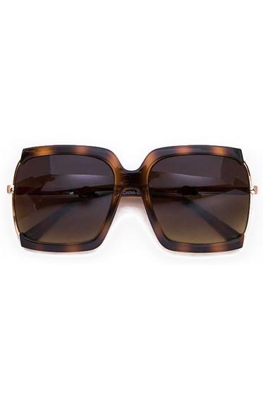 BB Oversized Tortoise Square Sunglasses