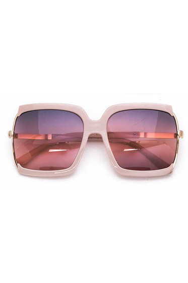 BB Oversized Pink Square Sunglasses
