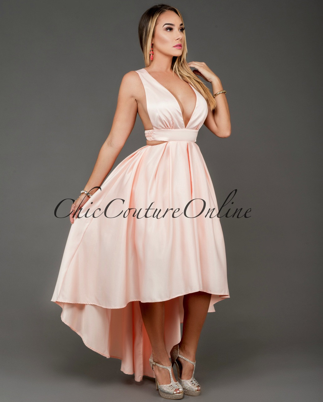 High Peach low dresses