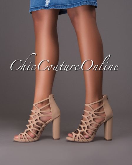 Uma Nude Cut-Out Booties