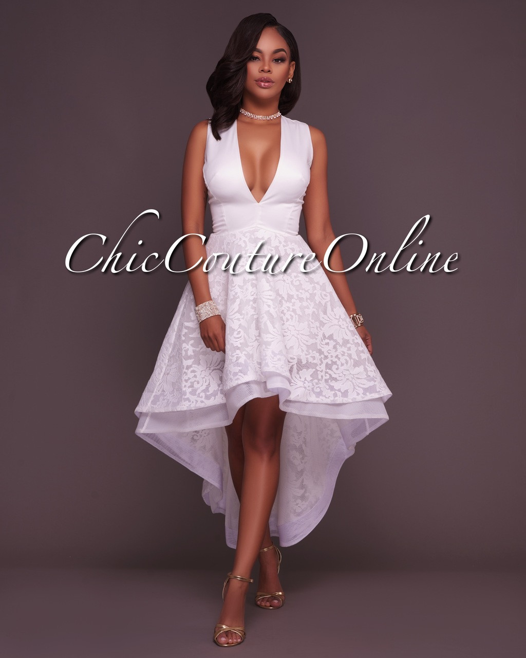 High white low dresses images